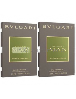 Bvlgari MAN Wood Essence, Vzorka vône